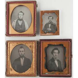 Fine Collection of Daguerreotype Portraits Featuring Men with Fancy Hairstyles