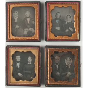 Sixth Plate Daguerreotype Portraits Featuring Couples