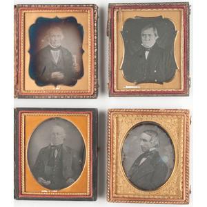 Sixth Plate Daguerreotype Portraits of Distinguished Gentlemen
