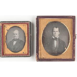 Daguerreotype Portraits Featuring Visibly Balding Men