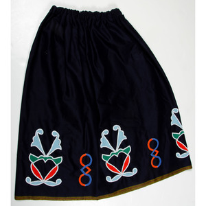 Ho Chunk Beaded Wool Skirt