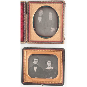 Sixth Plate Daguerreotype Portraits of Fashionable Couples