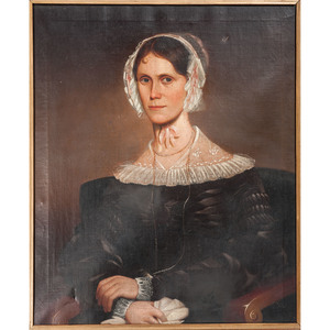 American Portrait of a Woman, Signed J. Brown