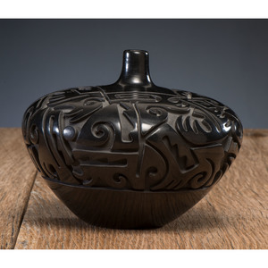 Tammy Garcia (Santa Clara, b. 1969) Blackware Pottery Seed Jar, From the Collection of William H. Saunders, M.D. and Putzi Saunders, Ohio