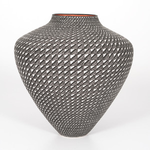 Sandra Victorino (Acoma, b. 1958) Geometric Design Pottery Jar, From the Collection of William H. Saunders, M.D. and Putzi Saunders, Ohio