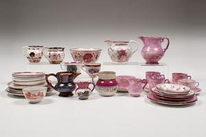 English Pink Lusterware, Plus