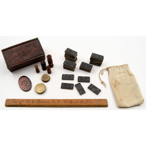 Lot of Civil War Camp Items with Attributions