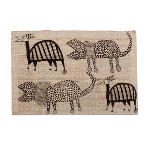 .259 & .260 Intricately Woven Mud Cloth Canvas