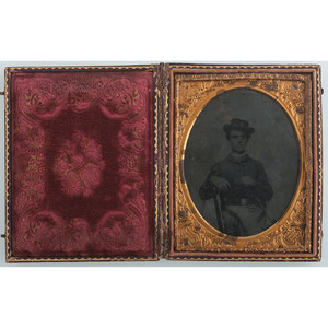 Two Tintypes of Federal Cavalrymen