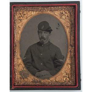 Quarter Plate Tintype of Corporal Henry L. Tibbetts, 5th Maine Infantry
