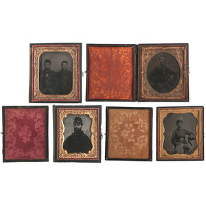 Civil War Tintypes, Plus, Lot of Four