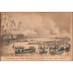 Mexican War Lithographs by Currier and Ives