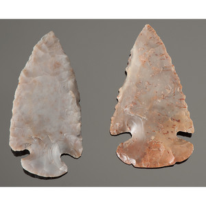 Flint Ridge Dovetail Points, From the Collection of Jan Sorgenfrei, Ohio
