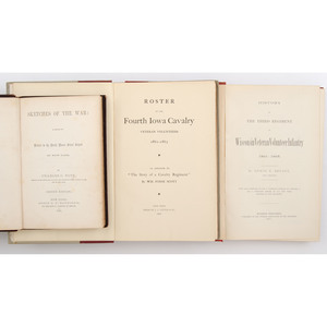 Civil War Regimental History, Group of Two Iowa and One Wisconsin Regimental Histories