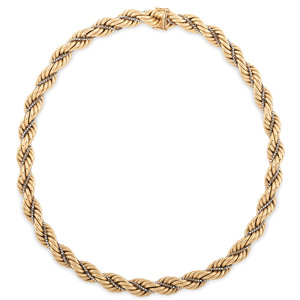 Balestra 18 Karat Yellow Gold Rope Necklace