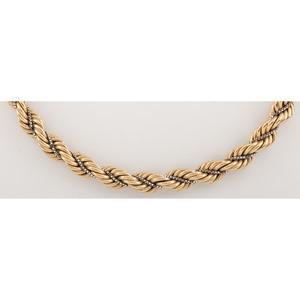 Balestra 18 Karat Yellow Gold Rope Necklace