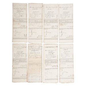 Set of 11 Muster Rolls for 30th USCT, July-August 1864