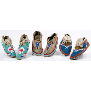Plains and Plateau Beaded Hide Moccasins