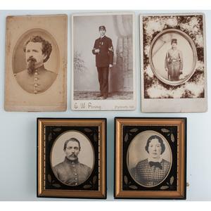 Civil War CDVs and Cabinet Cards, Plus Civilian Photographs
