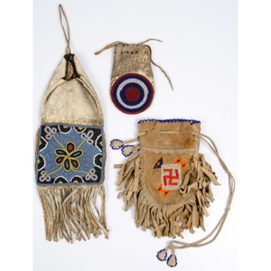Plains Beaded Hide Pouches and Bags