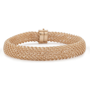 14 Karat Yellow Gold Mesh Bracelet