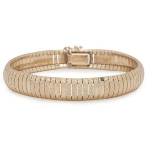 14 Karat Yellow Gold Flexible Bangle Bracelet