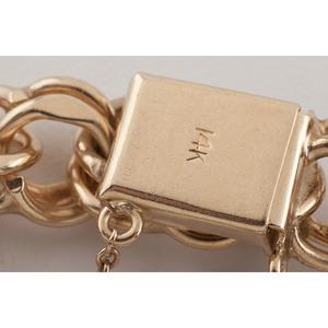 14 Karat Yellow Gold Charm Bracelet
