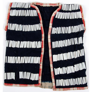 Sioux Child's Beaded Wool Vest