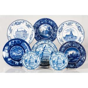 Transferware Plates with American Scenes