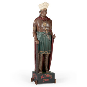 Painted Cigar Store Indian