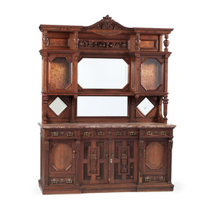Victorian Carved Sideboard by Frederick Schmeichel