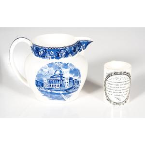 Wedgwood Pitcher and Creamware Mug
