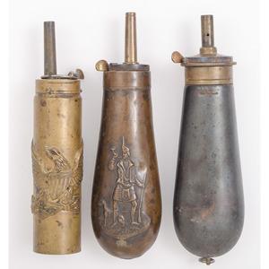 Lot of Three Copper Powder Flask