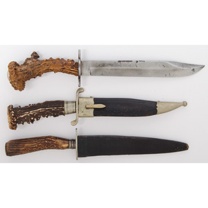 Stag Grip Knives from the Estate of Art Gerber, Tell City, Indiana