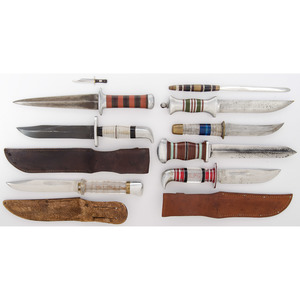 Theater Knives from the Estate of Art Gerber, Tell City, Indiana