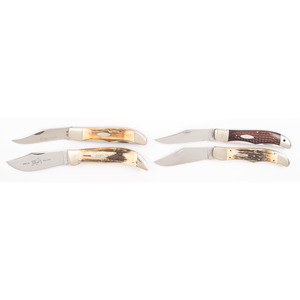 4 Case XX Pocket Knives from the Estate of Art Gerber, Tell City, Indiana