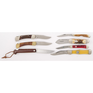 7 Kabar Knives from the Estate of Art Gerber, Tell City, Indiana