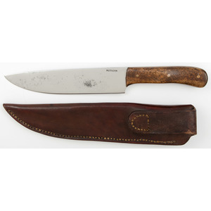 McCrackin Custom Sheath Knife from the Estate of Art Gerber, Tell City, Indiana