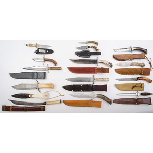 Lot of Assorted Fixed Blade Knives from the Estate of Art Gerber, Tell City, Indiana