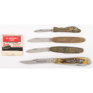 Case of Four Pocket Knives from the Estate of Art Gerber, Tell City, Indiana