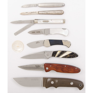 Case of 8 Assorted Knives from the Estate of Art Gerber, Tell City, Indiana