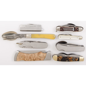 Case of 8 Assorted Hobo Knives from the Estate of Art Gerber, Tell City, Indiana