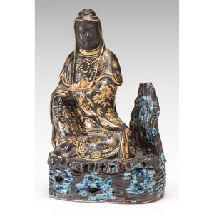 Gilt Porcelain Guanyin Figure