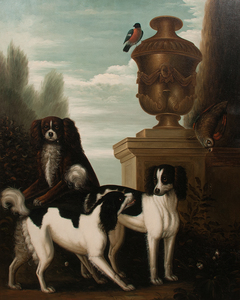20th Century Painting of Dogs, Oil on Canvas