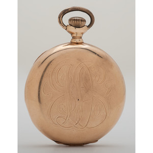 Elgin 14 Karat Yellow Gold Hunter Case Pocket Watch Ca. 1897