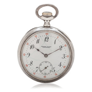 Longines Henry Korf, Cincinnati, Sterling Silver Open Face Pocket Watch Ca. 1913