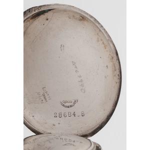Longines Henry Korf, Cincinnati, Sterling Silver Open Face Pocket Watch Ca. 1913