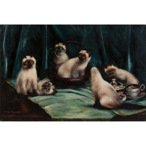 Agnes Augusta Talboys (British, 1863-1940) Oil on Canvas