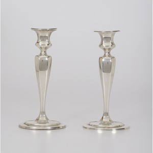 Tiffany & Co. Sterling Weighted Candlesticks