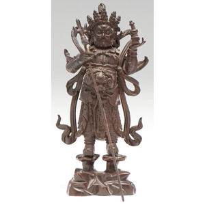 Chinese Bronze Guardian Figure